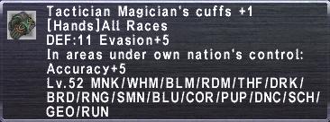 Tactician Magician's Cuffs+1