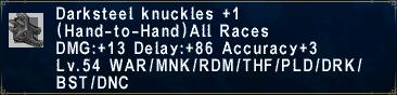 Darksteel Knuckles Plus 1