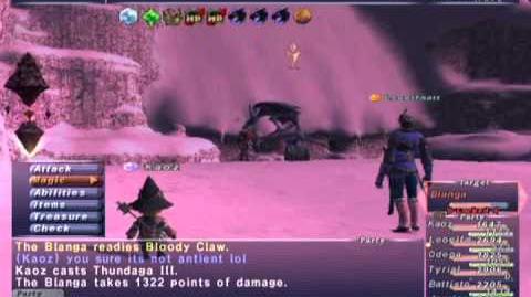 FFXI NM Saga 322 Blanga NM Full Battle