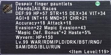 Despair Finger Gauntlets
