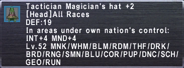 Tactician Magician's Hat+2