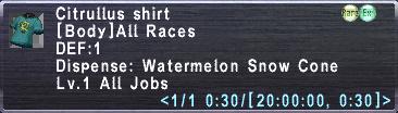 Citrullus Shirt