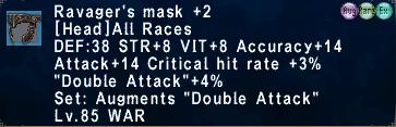 Ravager's Mask +2