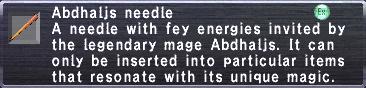 Abdhaljs Needle