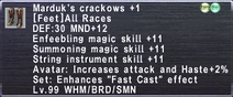 Marduk's Crackows +1