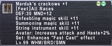 Marduk's Crackows +1