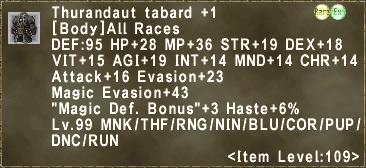 Thurandaut tabard +1