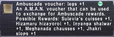 Ambuscade Voucher-Legs+1