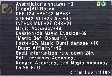 Assimilator's Shalwar +3
