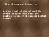 Ring of supernal disjunction