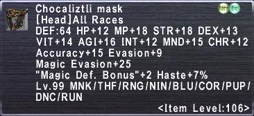 Chocaliztli Mask