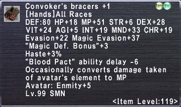 Convoker's bracers +1