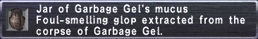 Garbage Gel's mucus