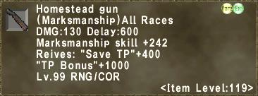 Homestead gun