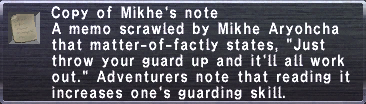 Mikhe's Note