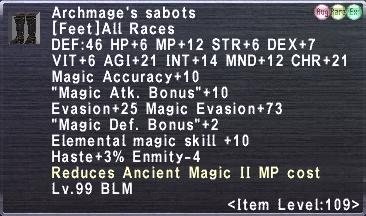 Archmage's sabots