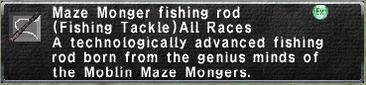 Maze Monger fishing rod