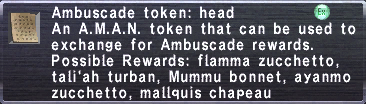 Ambuscade Token Head