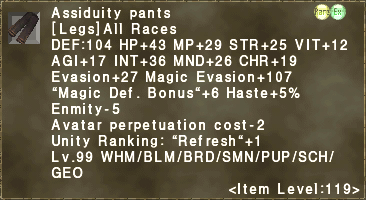 Assiduity pants