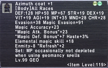 Azimuth Coat Plus 1