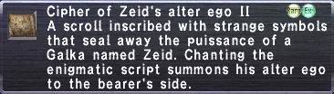 Cipher-Zeid II