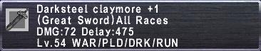 Darksteel Claymore +1