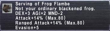 Frog Flambe
