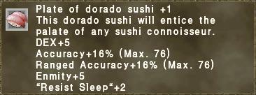 Plate of dorado sushi +1