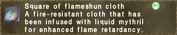 Square of flameshun cloth