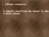 ♪Sheep companion