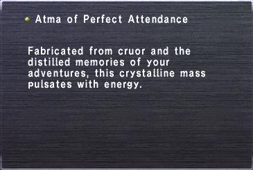 Atma Perfect Attendance