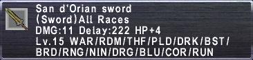 San d'Orian Sword