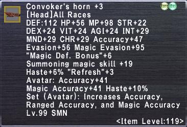Convoker's Horn +3