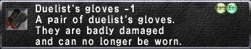 Duelist's gloves -1