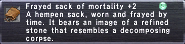 Frayed sack of mortality +2