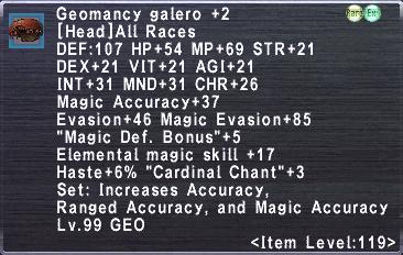Geomancy Galero +2