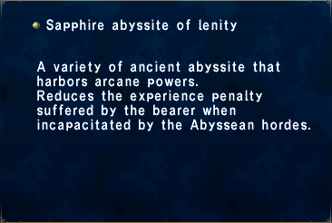 Sapphire abyssite of lenity