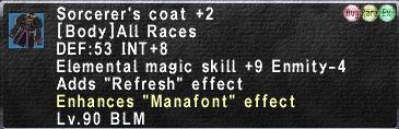 Sorcerer's Coat +2 Augmented