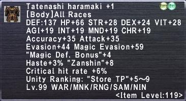 Tatenashi Haramaki Plus 1