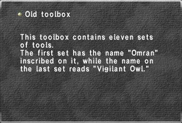 Old Toolbox | FFXIclopedia | FANDOM powered by Wikia