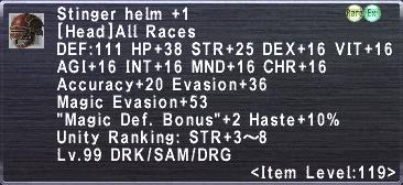 Stinger Helm +1