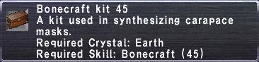 Bonecraft Kit 45