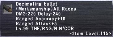 Decimating Bullet