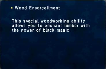 Key Item Wood Ensorcellment