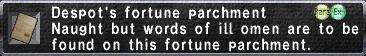 Despot's Fortune