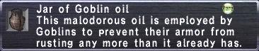 Jar of Goblin oil