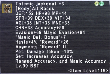 Totemic Jackcoat +3