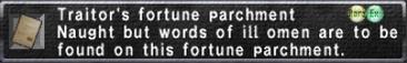 Traitor's Fortune