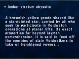 Amber stratum abyssite
