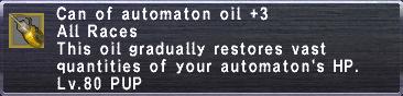 Automaton oil +3